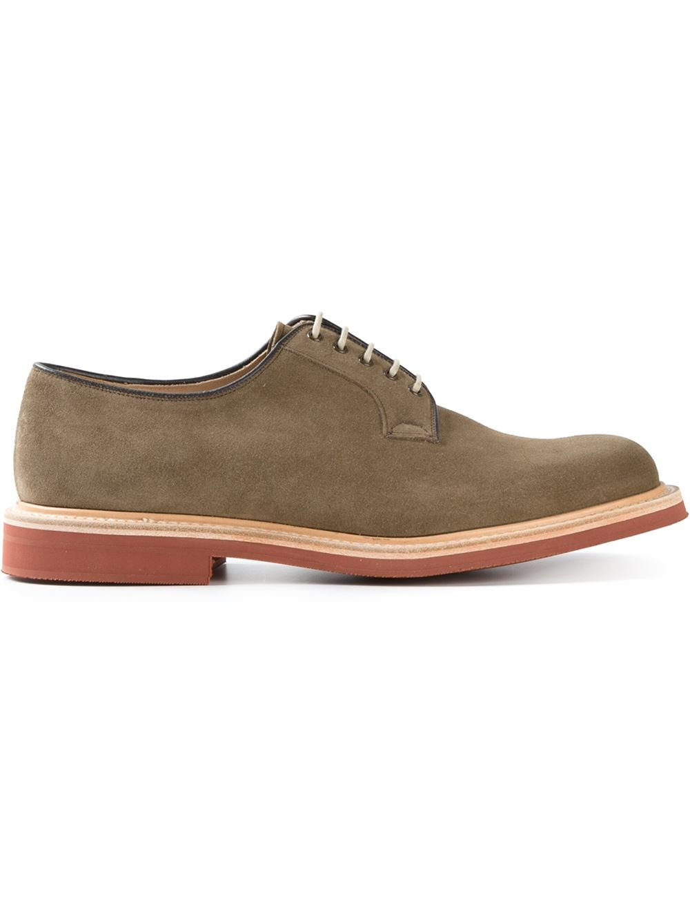 church s derby shoes in beige for neutrals lyst