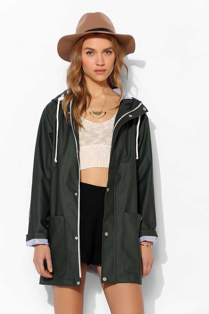 Bdg Fisherman Rain Slicker Jacket in Green | Lyst