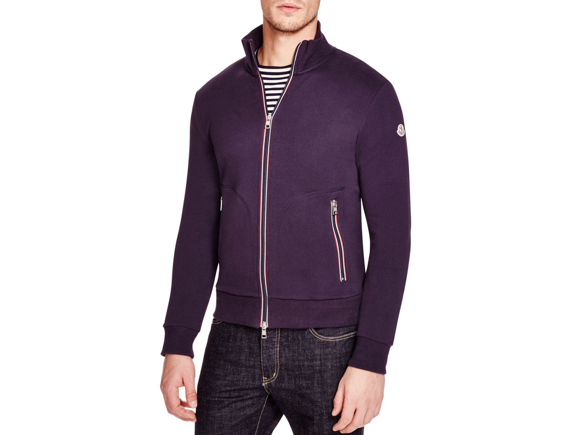 moncler zip up sweater