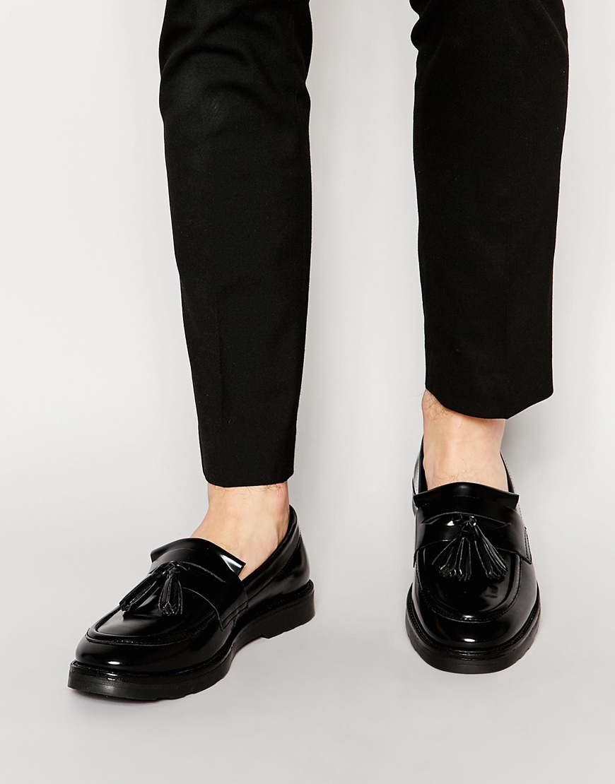 wholesale price cheap price ASOS DESIGN Loafers In Black Leather With Tassel sale pay with visa reliable cheap price FRMa5iX