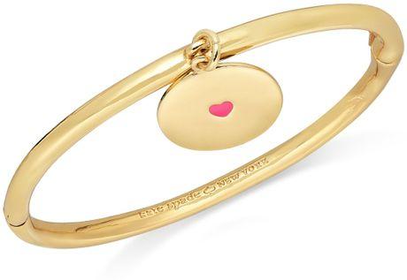 Kate Spade New York Goldtone Heart Charm Lets Go Steady