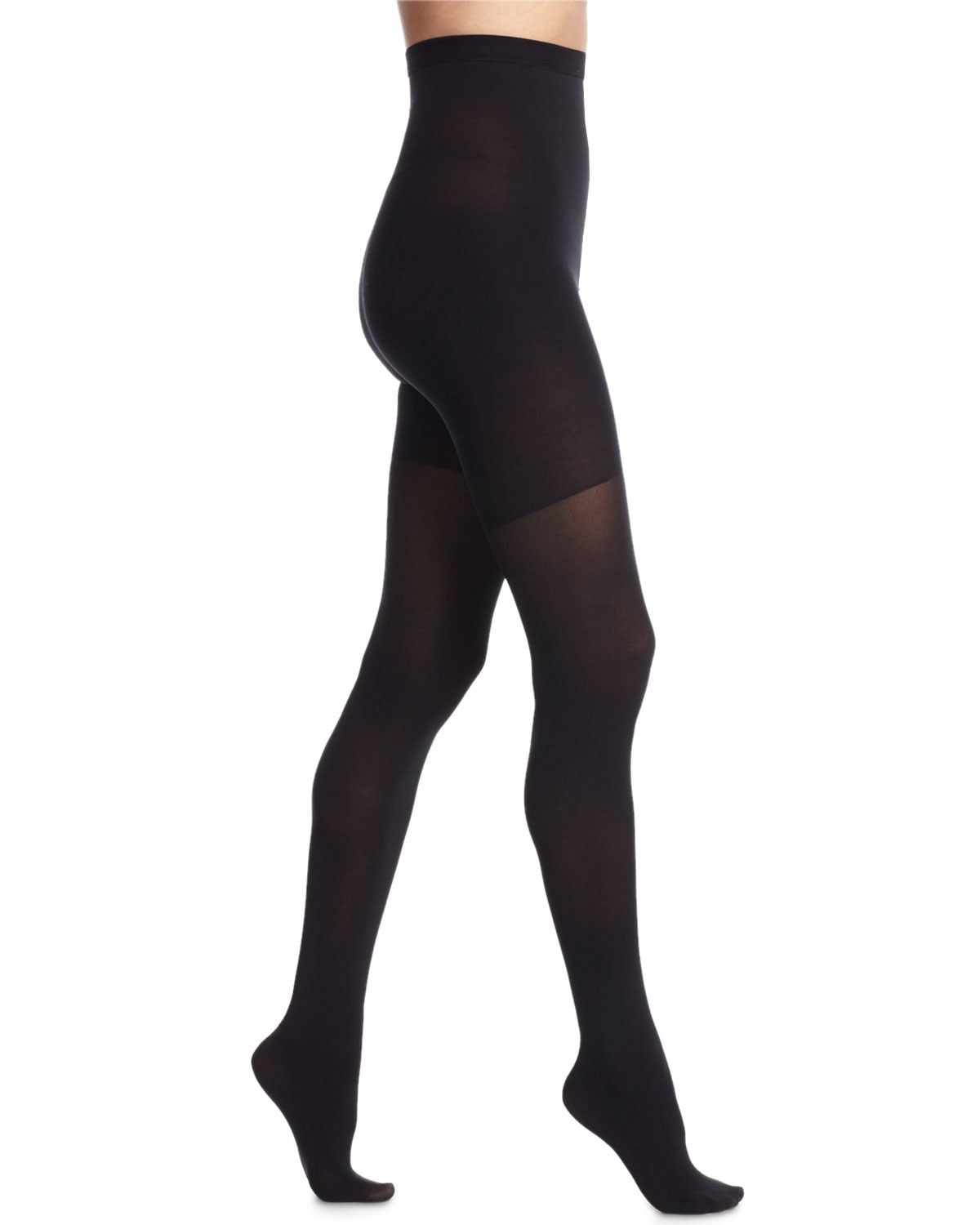spanx high waisted luxe sheer tights in black very black. Black Bedroom Furniture Sets. Home Design Ideas