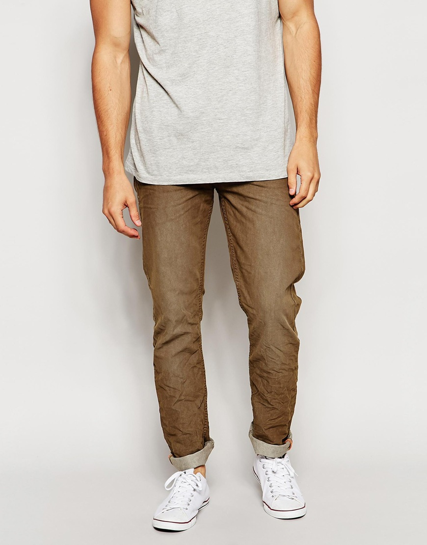 Blend Jeans Twister Slim Fit Stretch Colored Denim in Brown for Men | Lyst