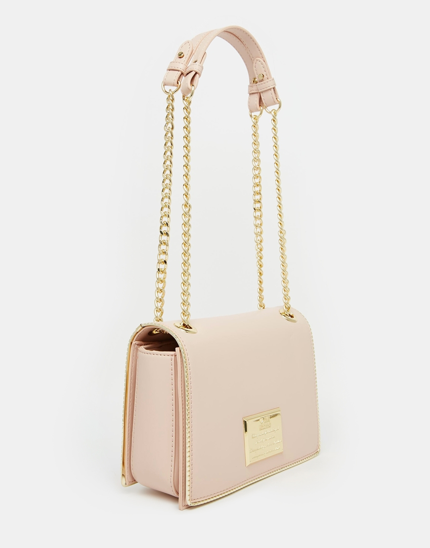 Love moschino Shoulder Bag With Chain Strap in Pink | Lyst