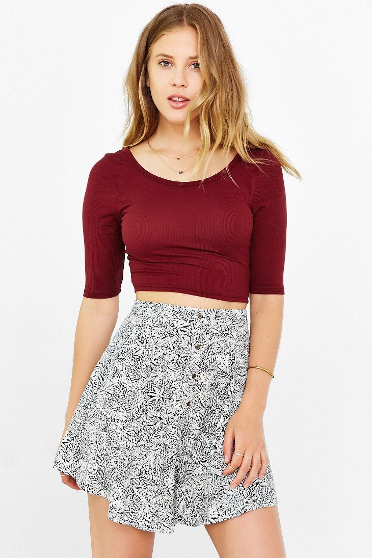 18df3d2a8f210 Lyst - Project Social T Angie Cropped Top in Red