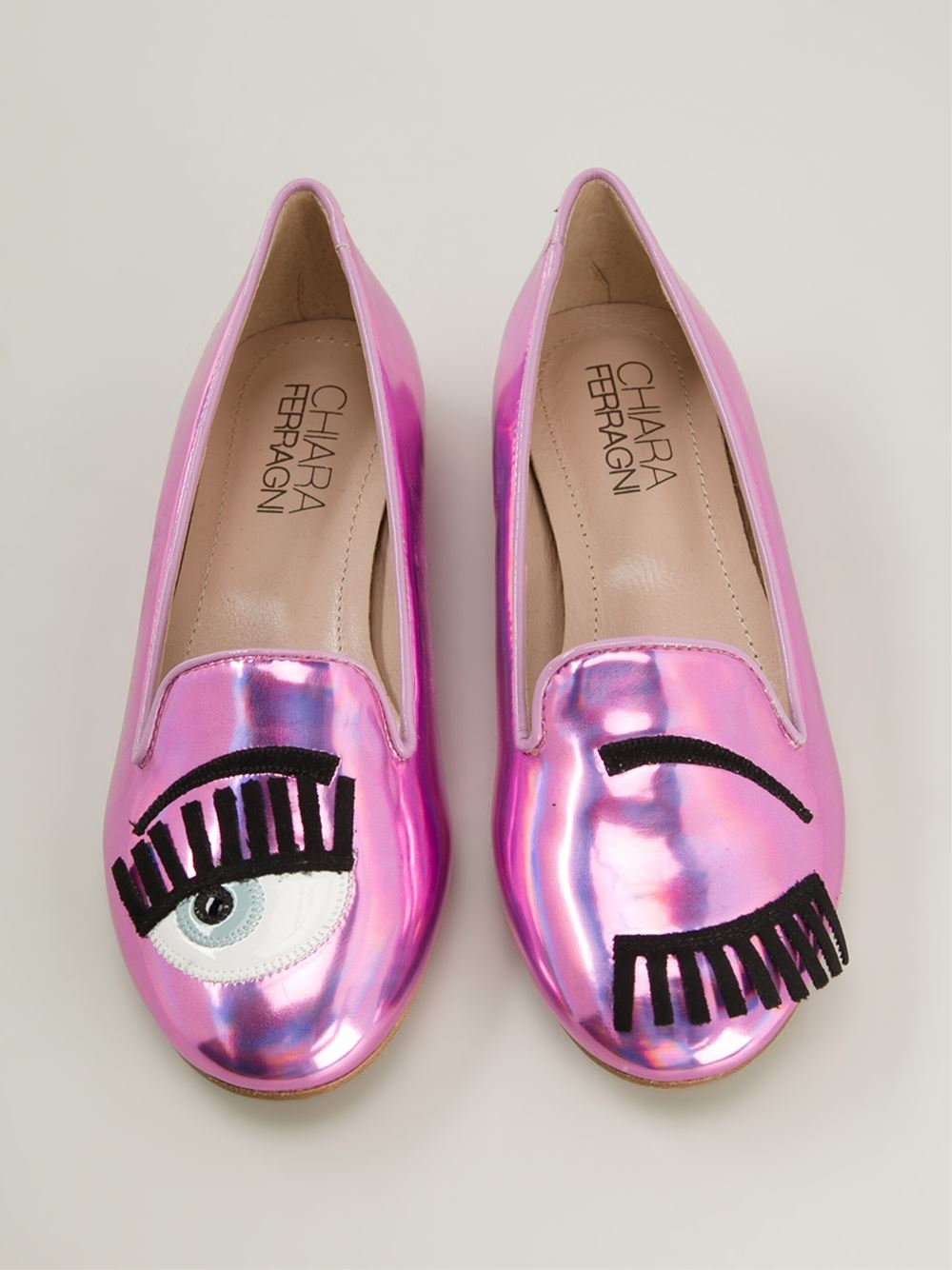 chiara ferragni 39 flirting 39 slippers in pink lyst. Black Bedroom Furniture Sets. Home Design Ideas