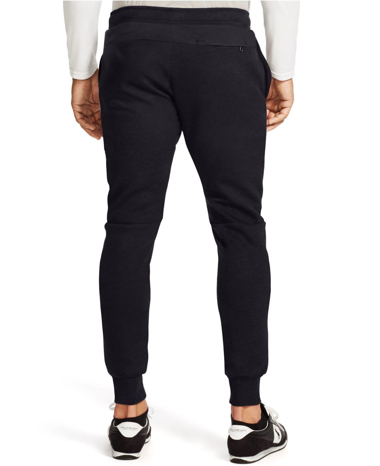 4833317e587d Lyst - Polo Ralph Lauren Double-knit Tech Pants in Black for Men