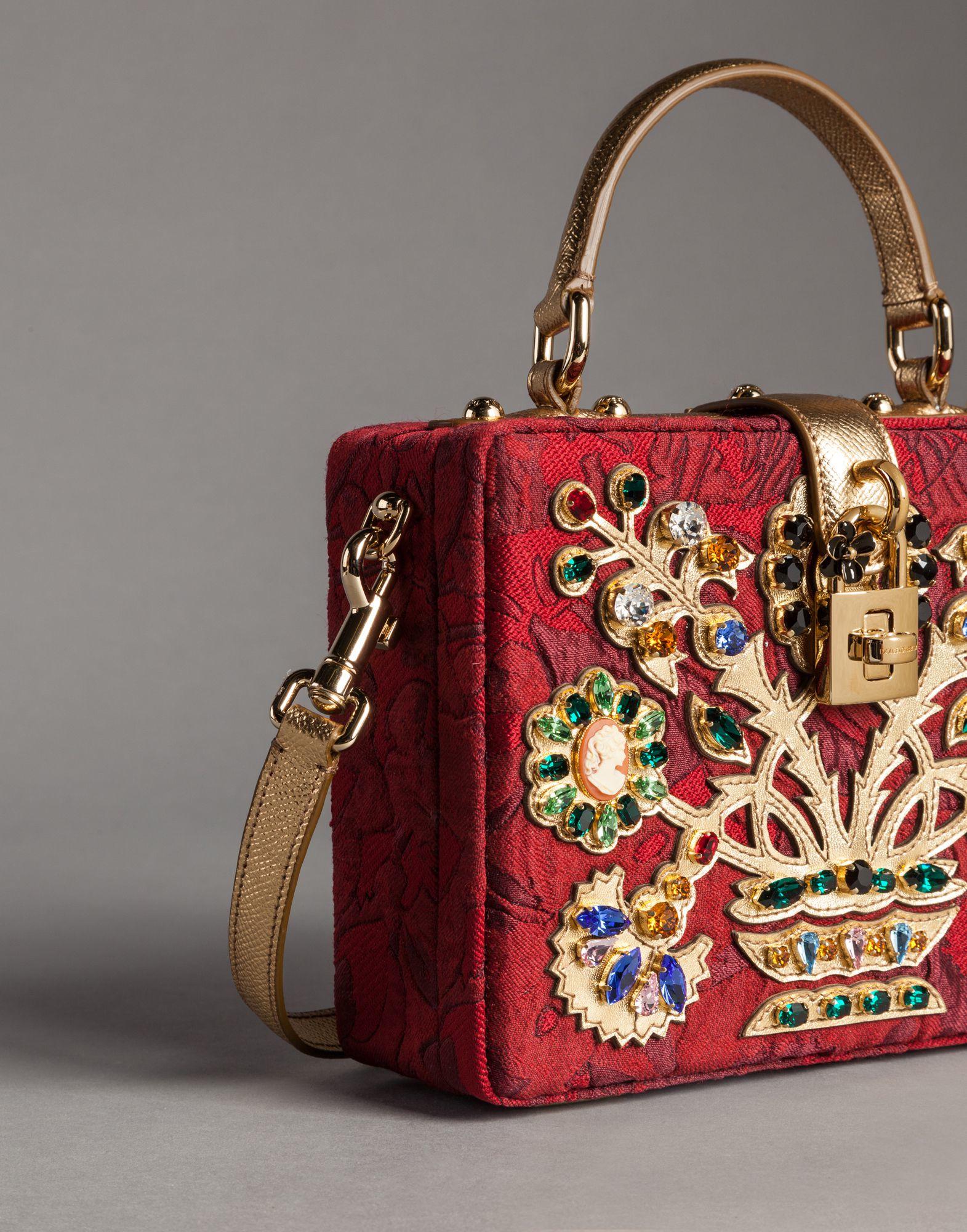Dolce   Gabbana Filigree Tree Brocade Dolce Box Bag - Lyst e03fb18dc2634