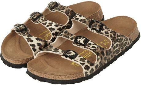 Topshop Birkenstock Florida Sandals In Animal True