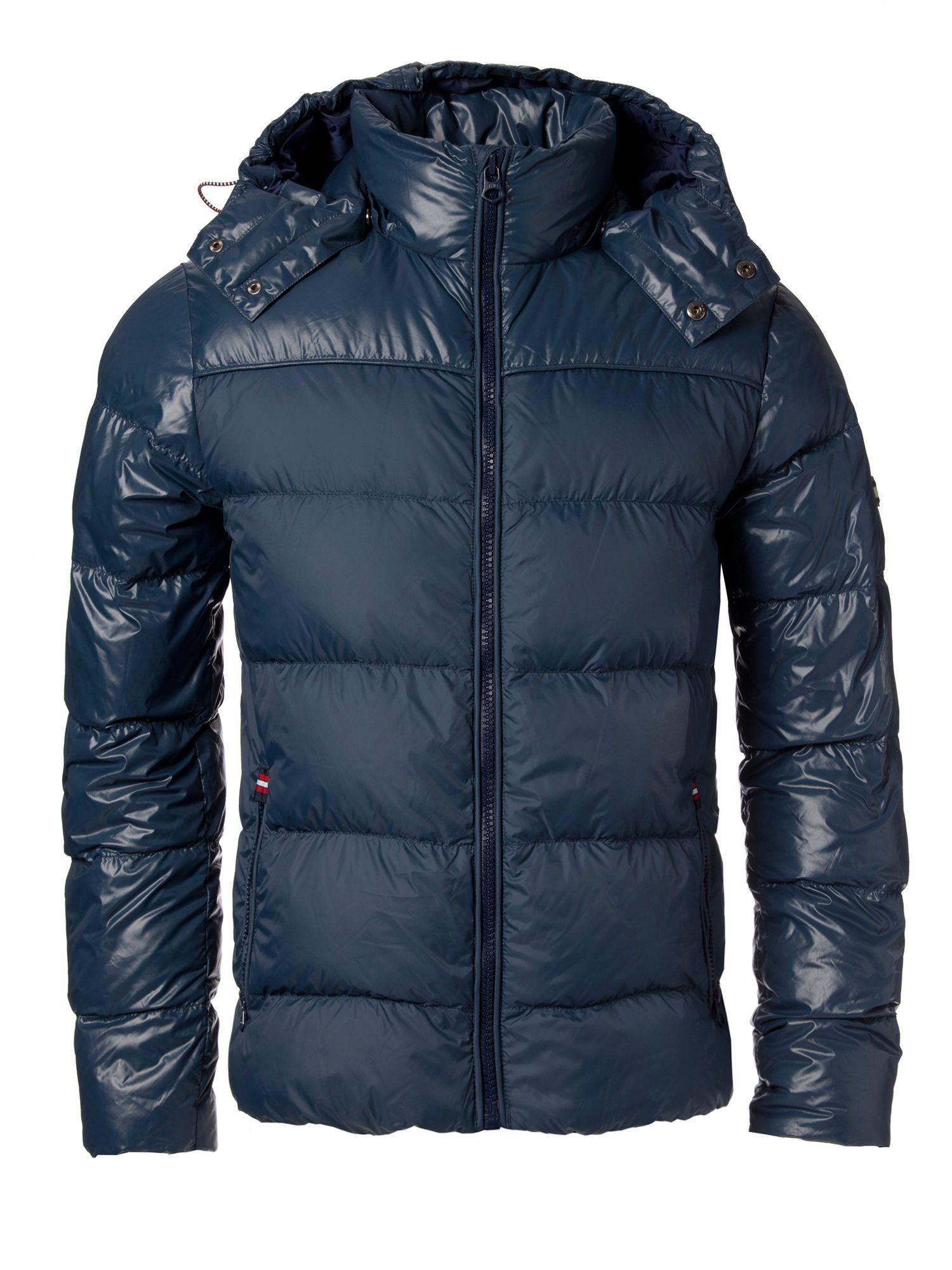 tommy hilfiger donnie down jacket in blue for men lyst. Black Bedroom Furniture Sets. Home Design Ideas