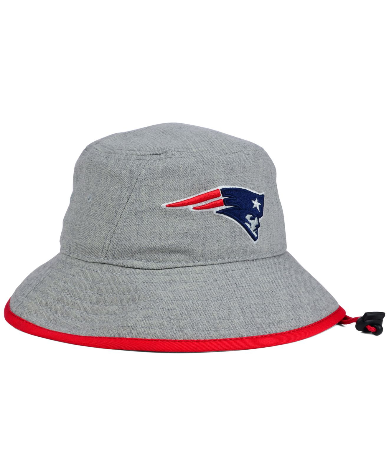 Lyst - KTZ New England Patriots Nfl Heather Gray Bucket Hat in Gray 37fbd433916
