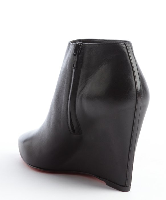 christian louboutin gray wedge ankle boots