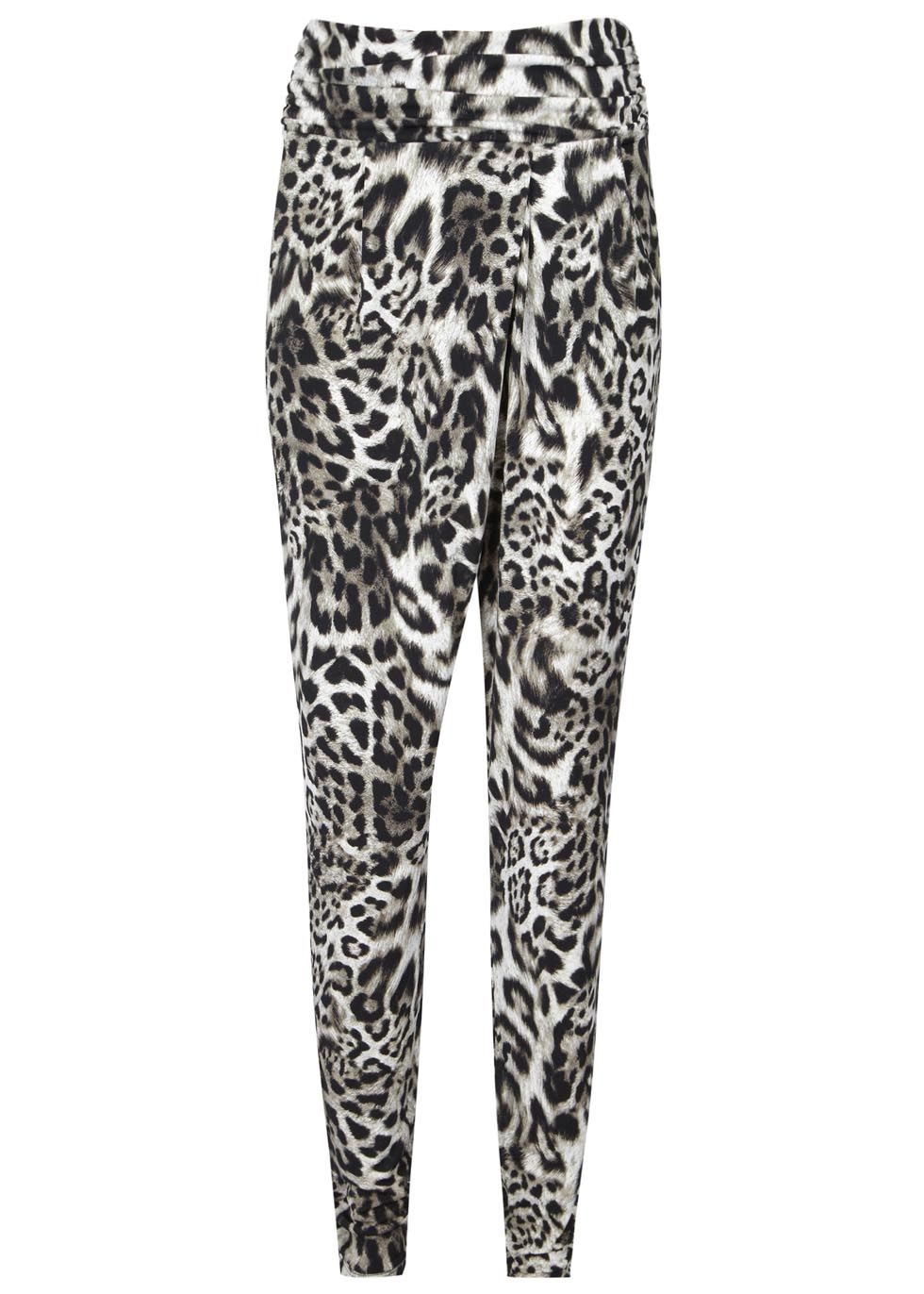 4466c5e556c3a MICHAEL Michael Kors Leopard Print Jersey Trousers in Black - Lyst