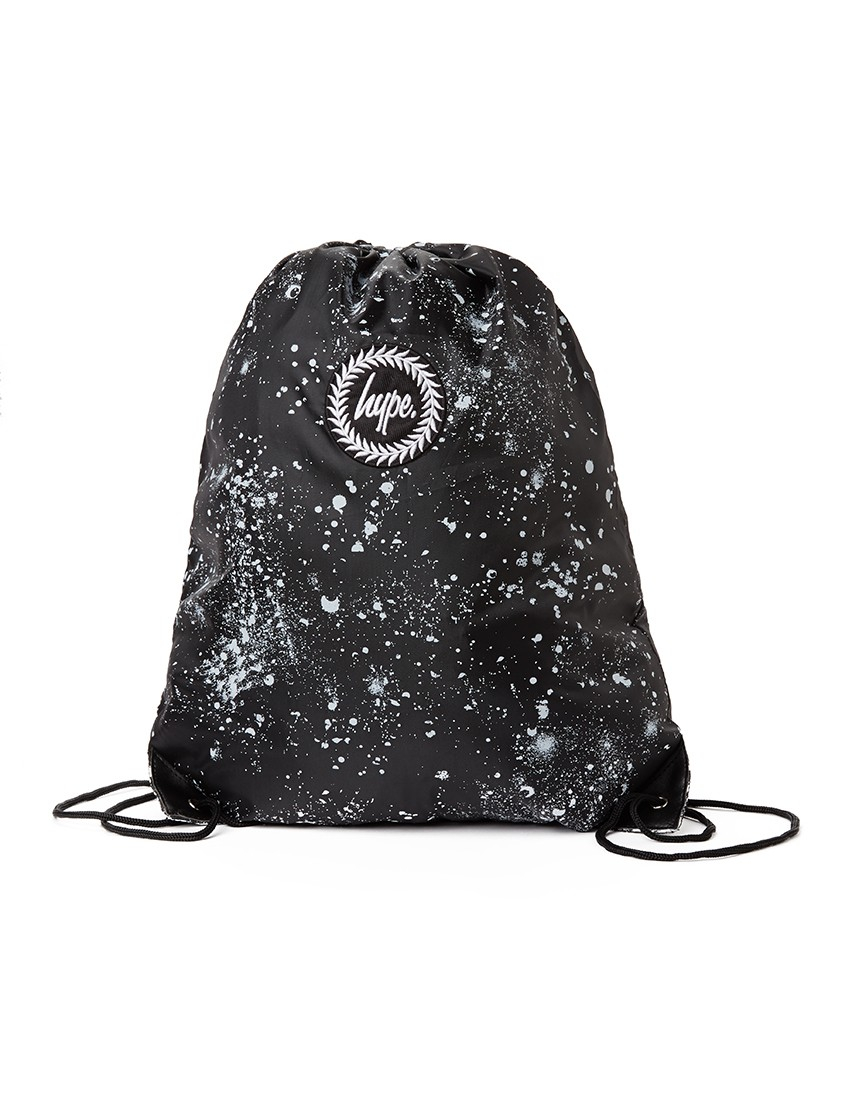 Lyst - Hype Speckle Drawstring Bag - Black in Black for Men 266b294837016