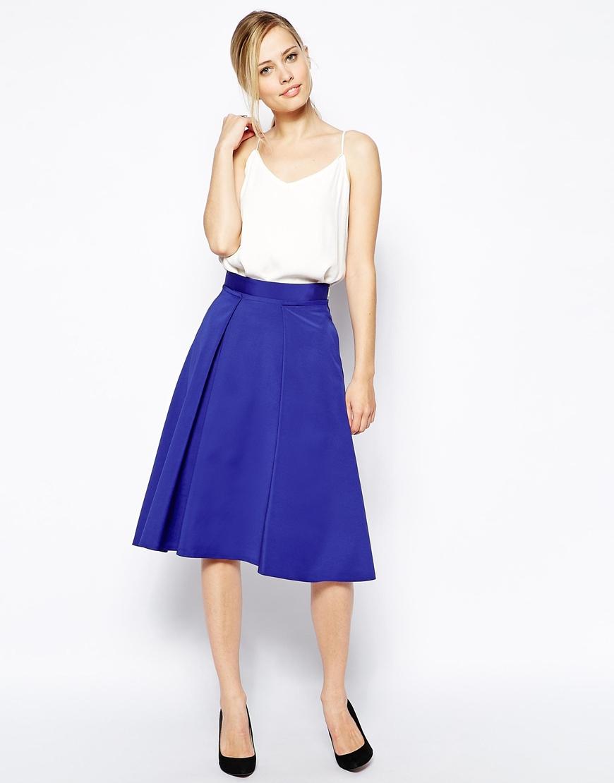 Coast Dionysus Midi Skirt in Blue | Lyst