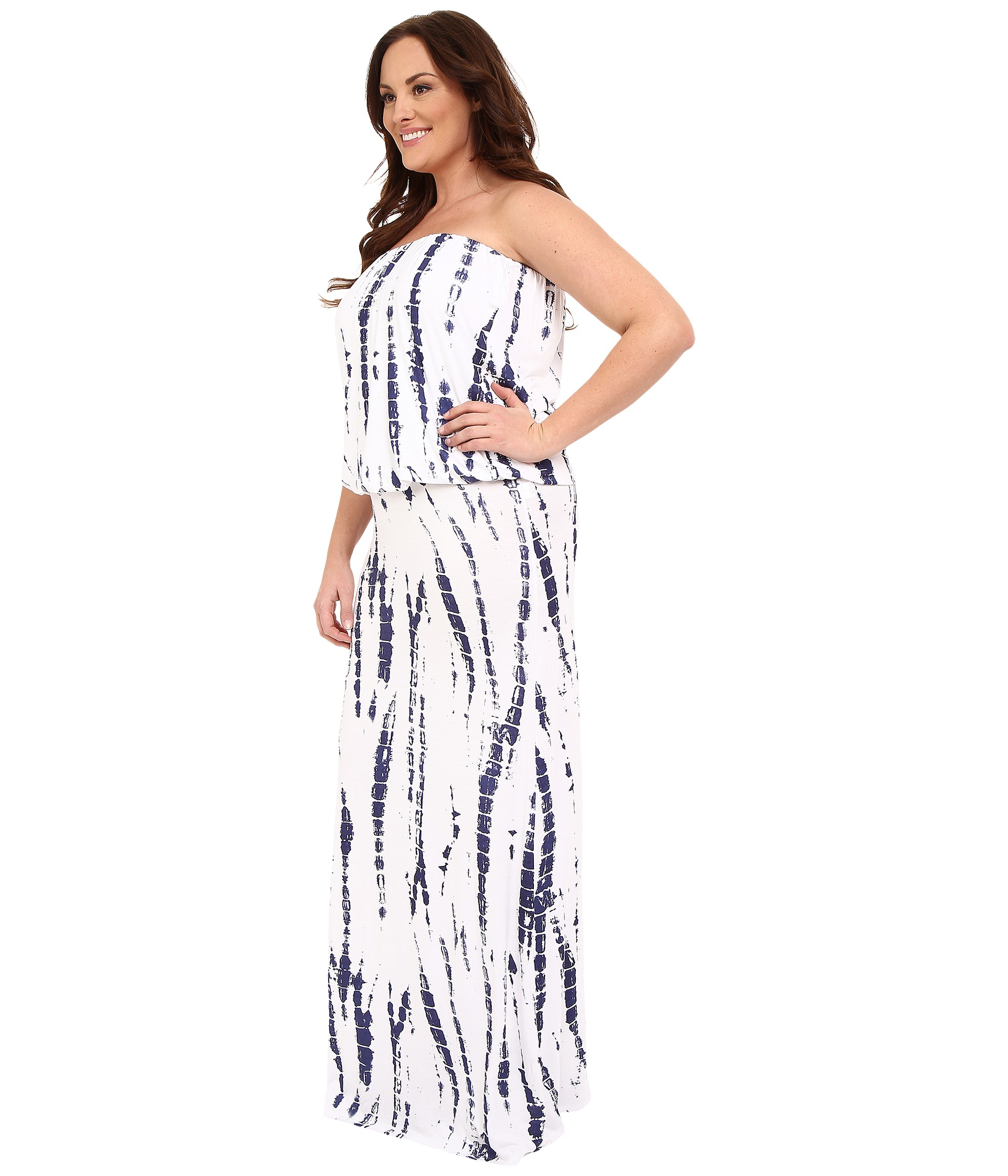 1b13c7aa9d1 Lyst - Culture Phit Plus Size Riena Maxi Dress in White