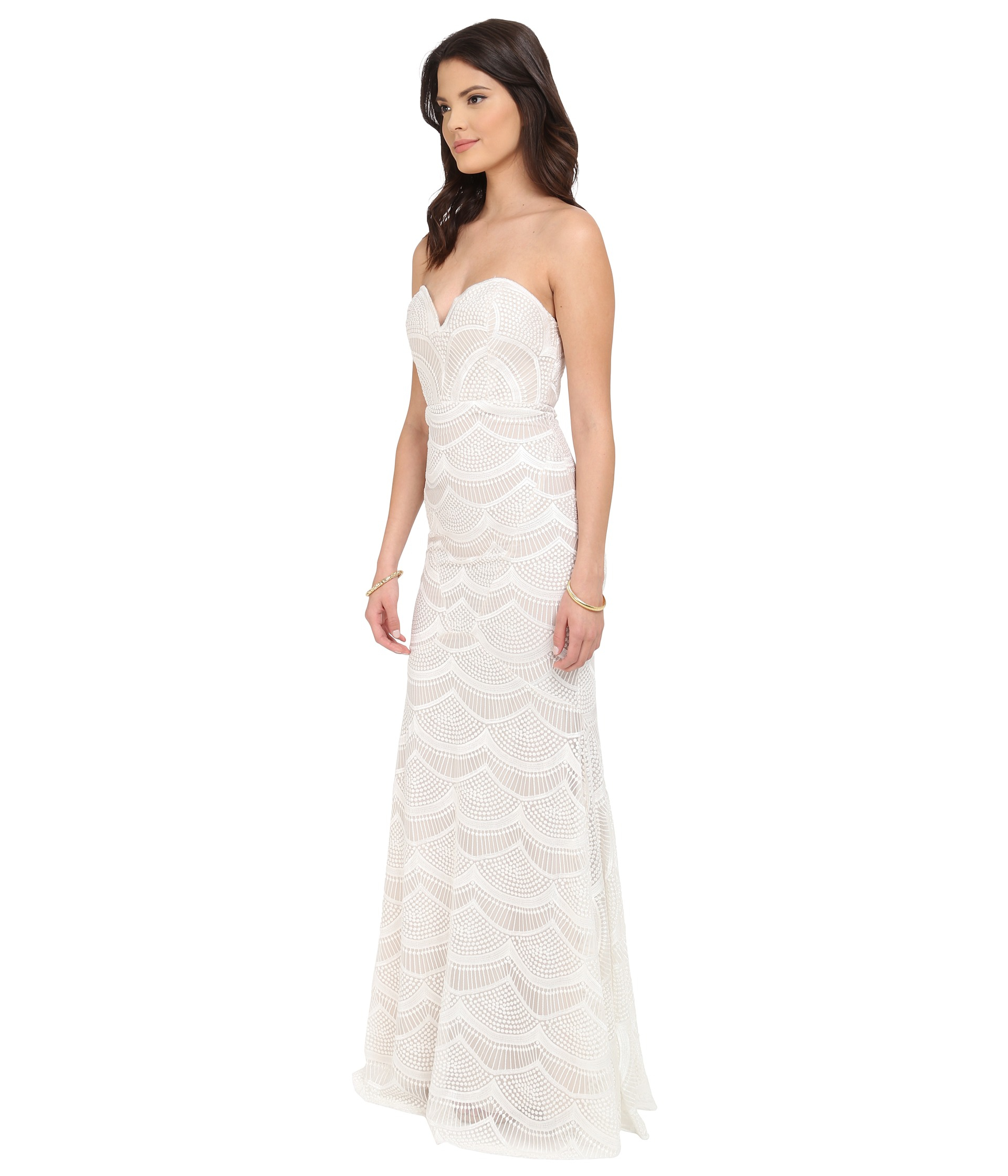 Stone cold fox market gown in white lyst gallery ombrellifo Choice Image