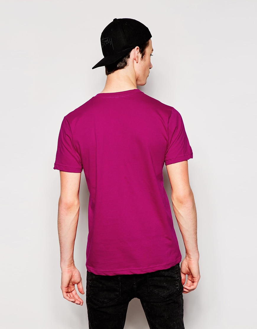 Lyst american apparel fine jersey t shirt in purple for men for American apparel men s fine jersey short sleeve tall t shirt