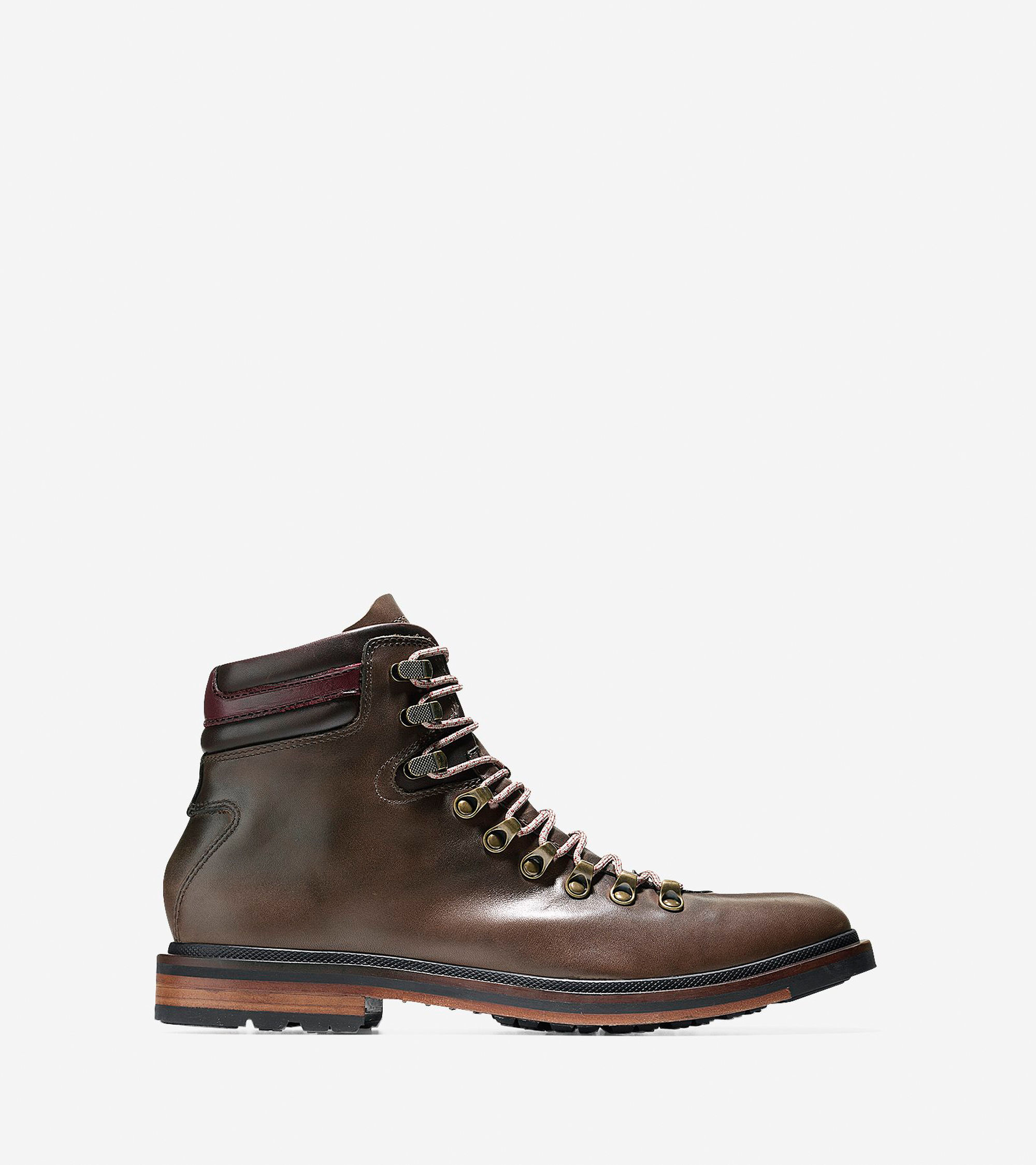 cole haan cranston water resistant leather boots in brown