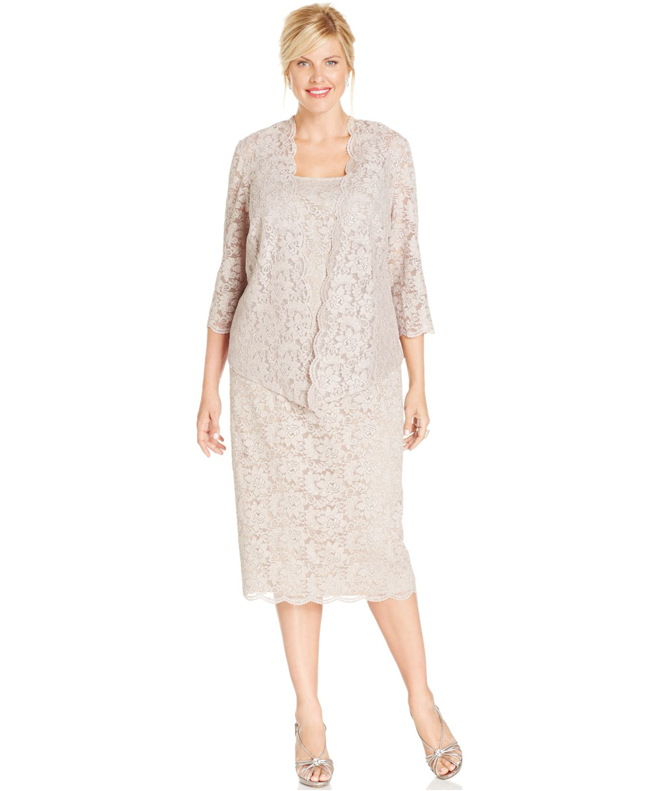 marina lace sheath dress plus size collections