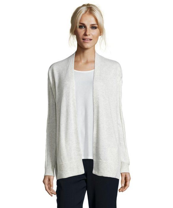 Vince Cloud Heather Knit Cashmere Open Front Cardigan in Natural ...