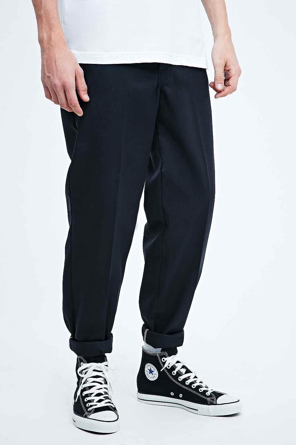 Dickies 873 Slim Straight Work Trousers In Black in Black for Men - Lyst d57de2b9a