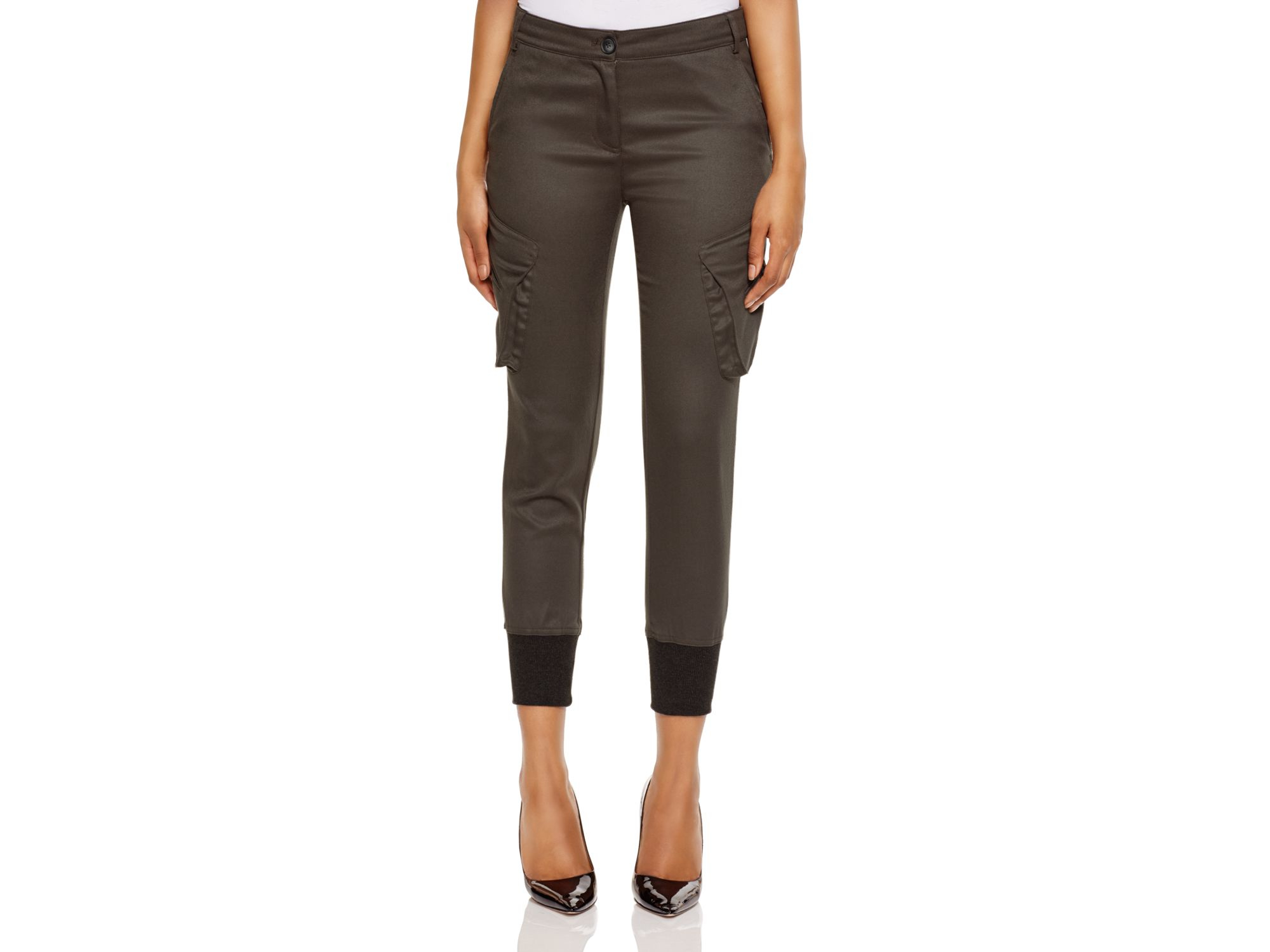 James jeans Skinny Cargo Pants In Olive in Green | Lyst