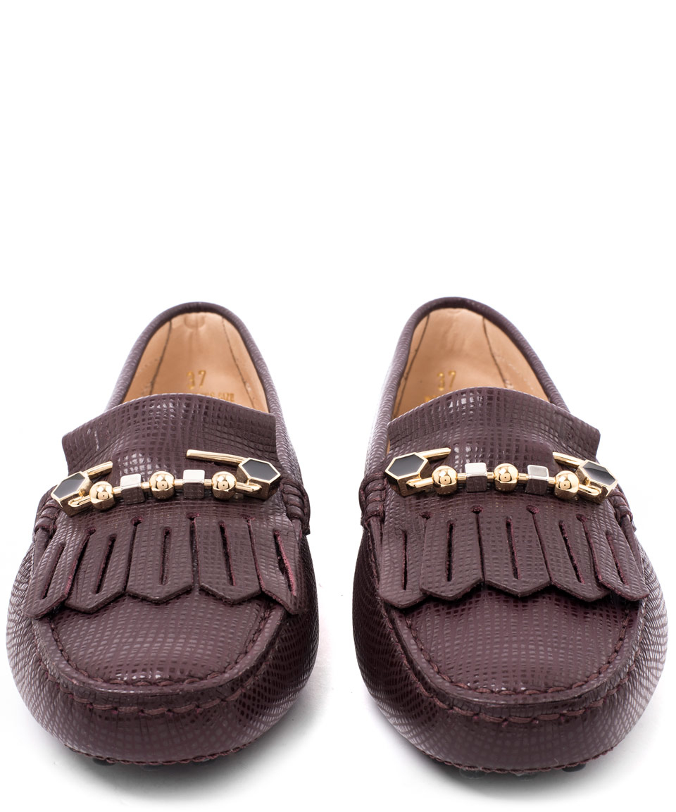 Tod's Flat shoes 0RU0U calfskin Clamp-buckle Fringe Logo Metallic Low Price For Sale Big Sale For Sale Big Discount Cheap Price Manchester Cheap Online rogVVAI