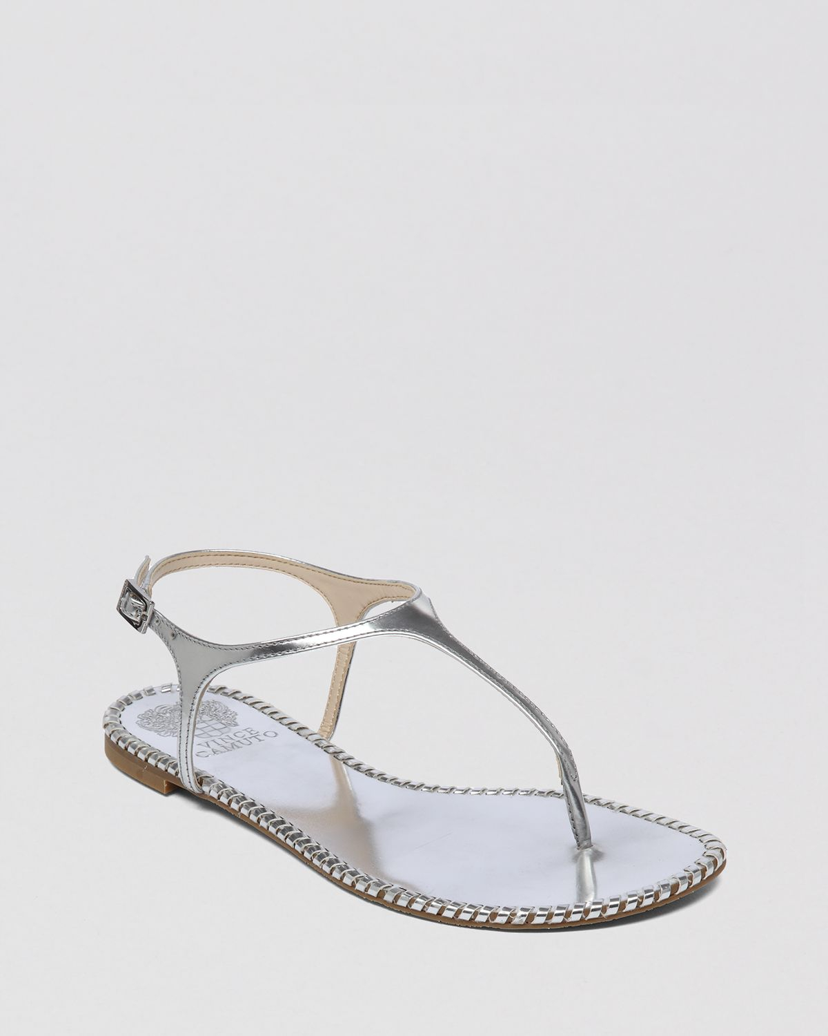 Vince Camuto Flat Thong Sandals Adrelin In Gray Silver