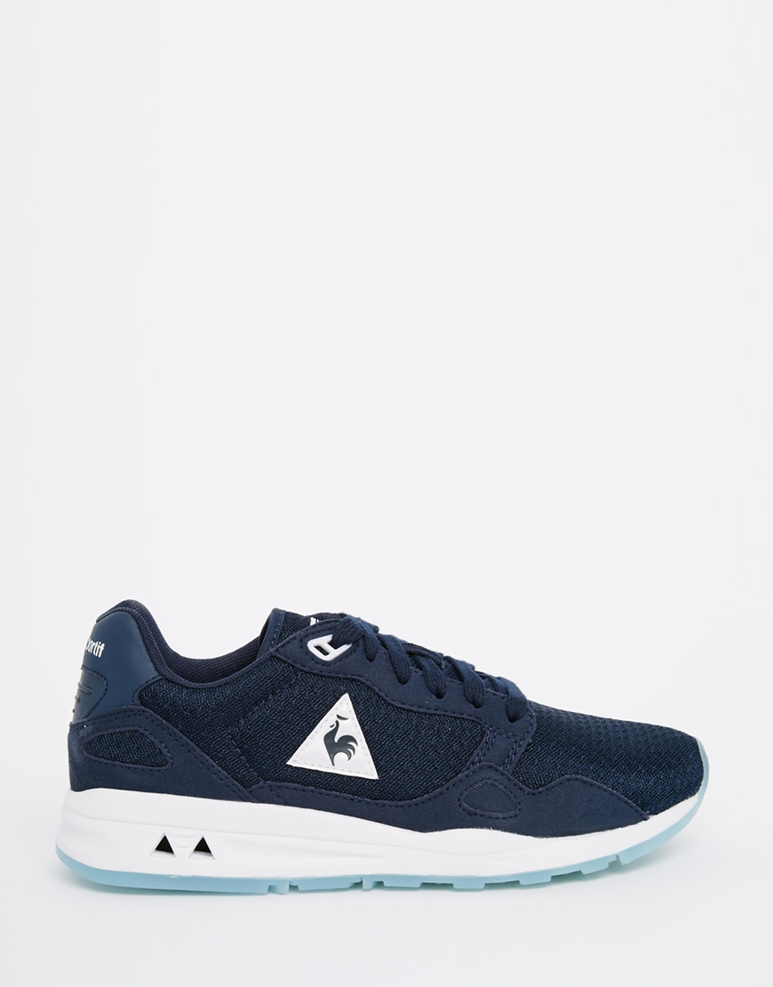 lyst le coq sportif lcs r900 navy trainers in blue. Black Bedroom Furniture Sets. Home Design Ideas