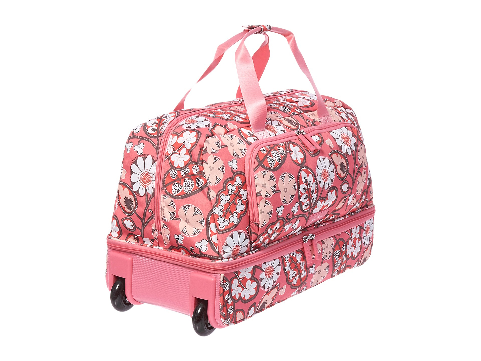 9818b4d3ab5e Lyst - Vera Bradley Lighten Up Large Wheeled Duffel in Pink