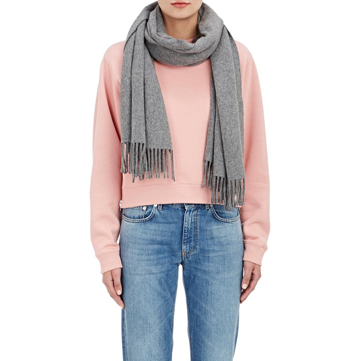 acne studios canada scarf in gray lyst