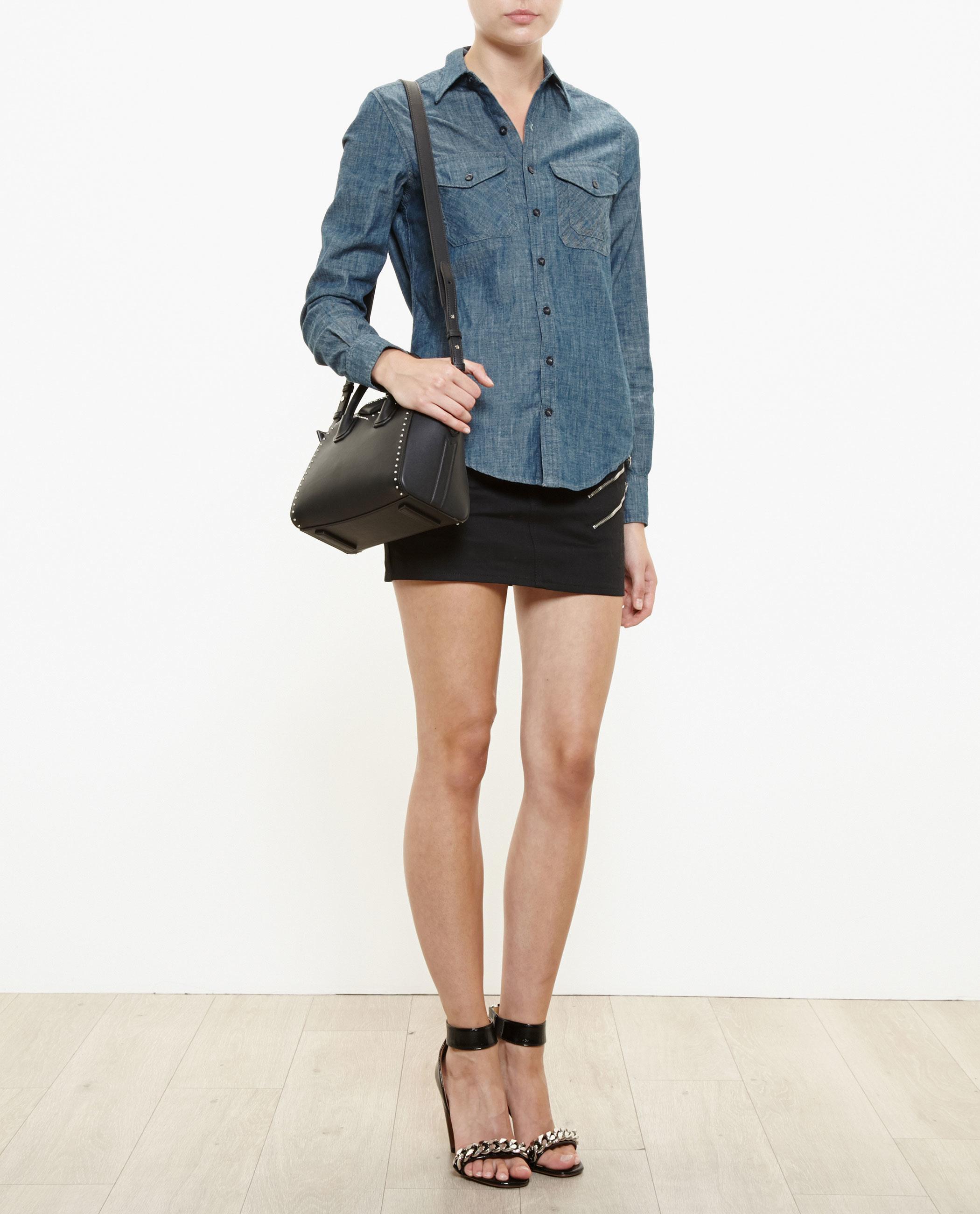 2a306789008f Lyst - Givenchy Studded Mini Antigona Bag in Black