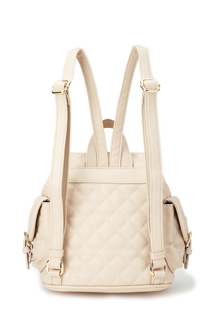 c9d5d83c86 Lyst - Forever 21 Quilted Faux Leather Backpack in Natural