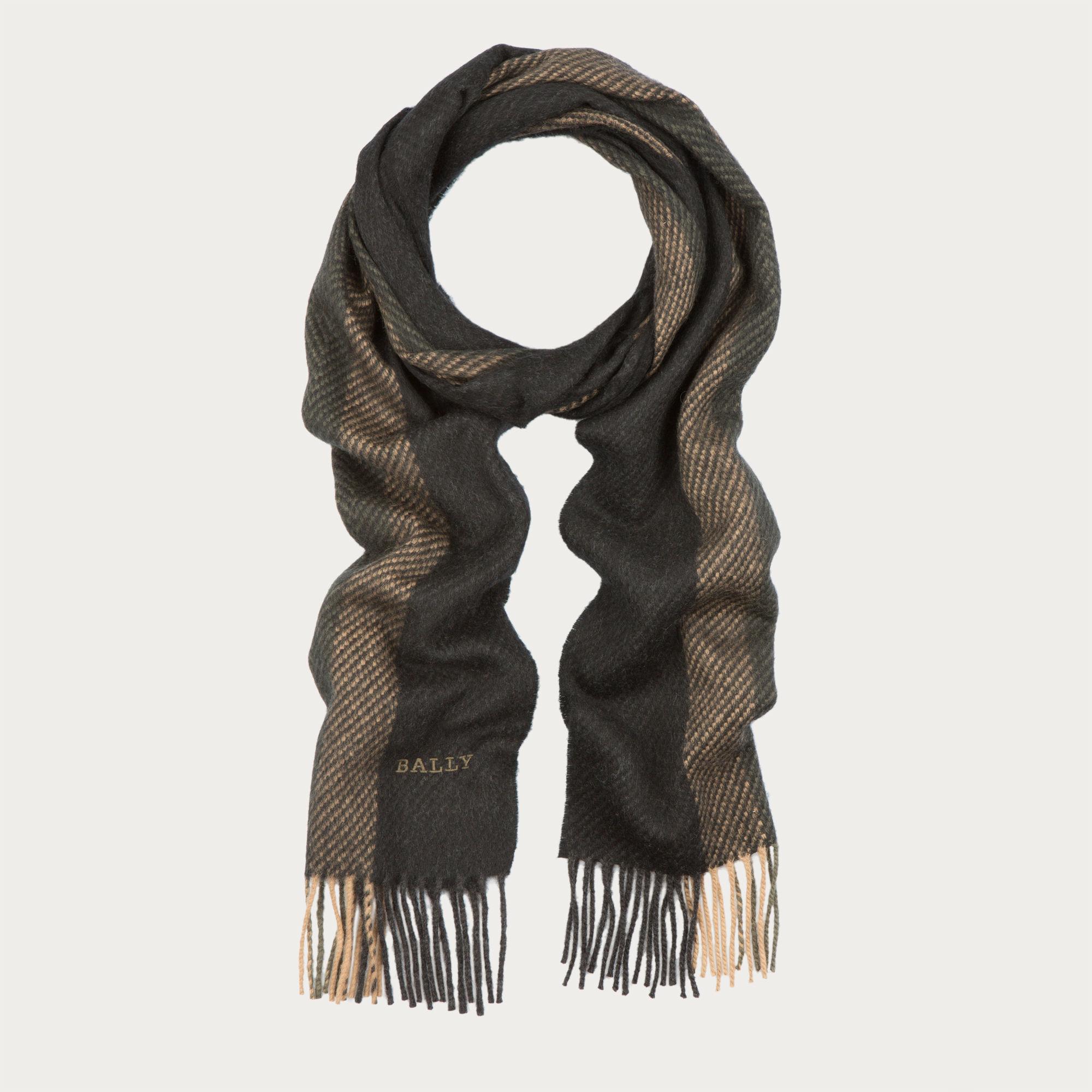 bally wool jacquard scarf s mix wool scarf in multi