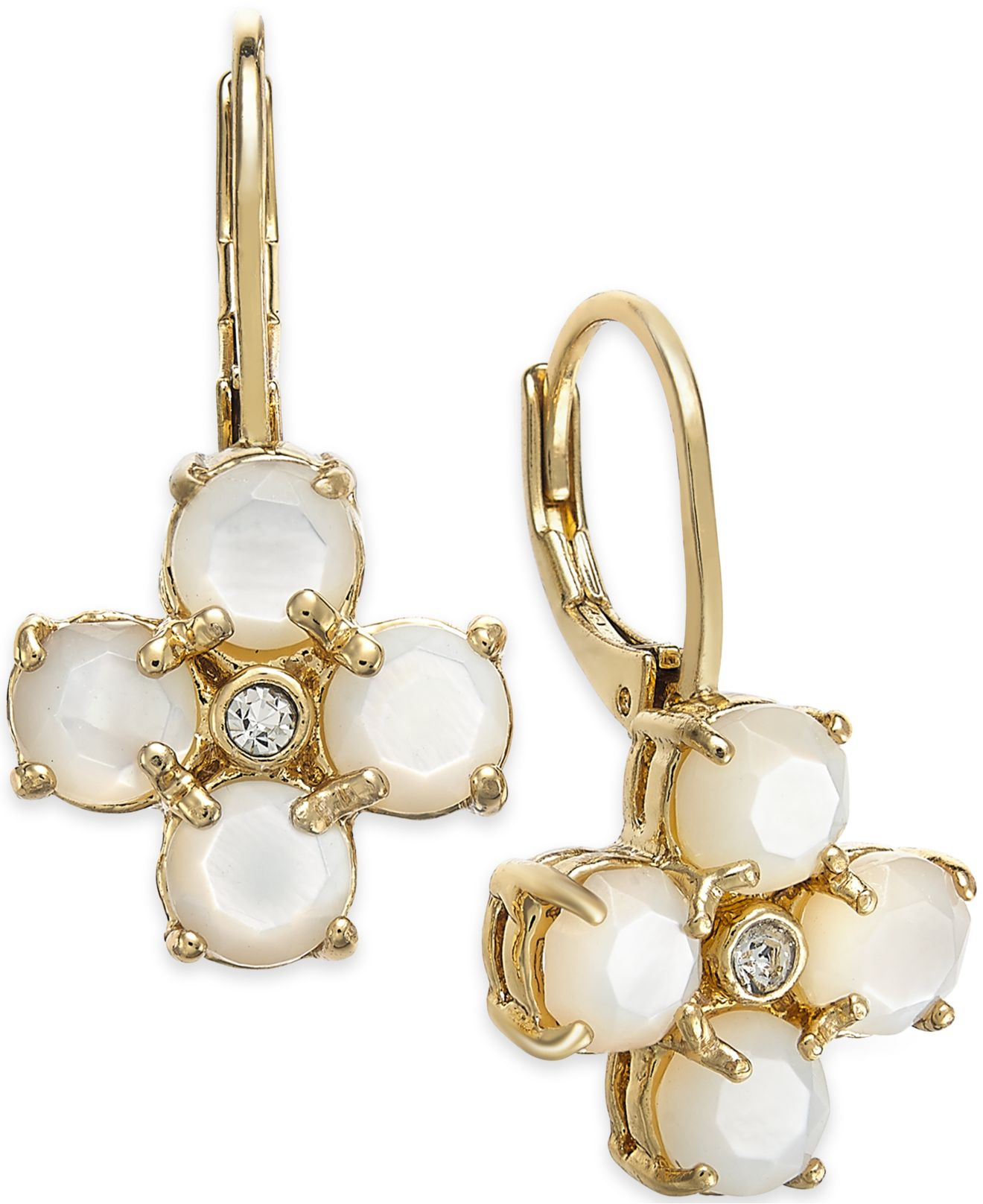 Spade Jewelry: Kate Spade New York 14k Gold-plated Mother-of-pearl
