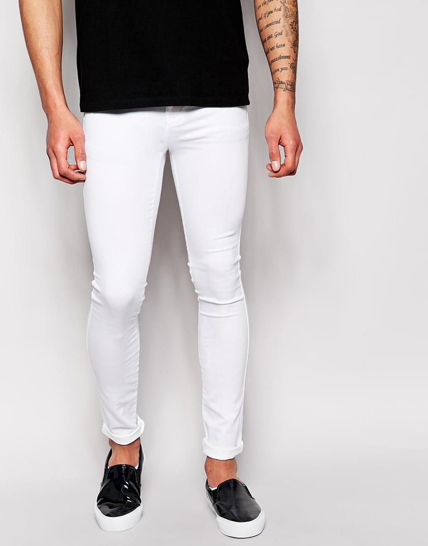 Dr. denim Jeans Kissy Low Spray On Extreme Super Skinny White in ...