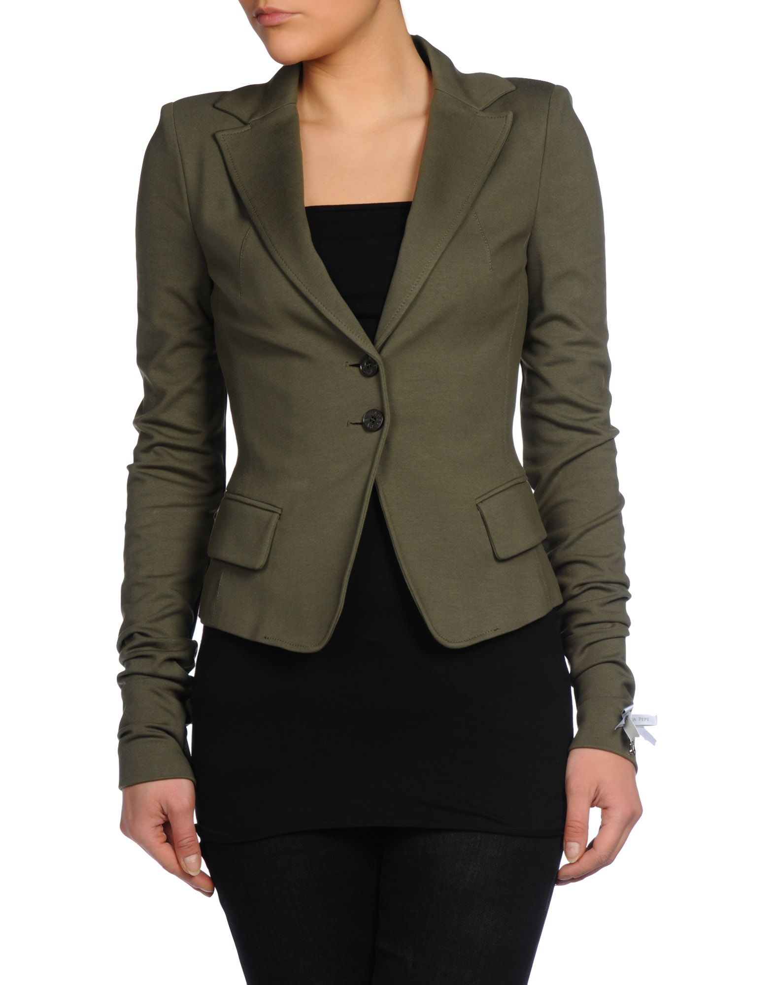 patrizia pepe blazer in green military green lyst. Black Bedroom Furniture Sets. Home Design Ideas