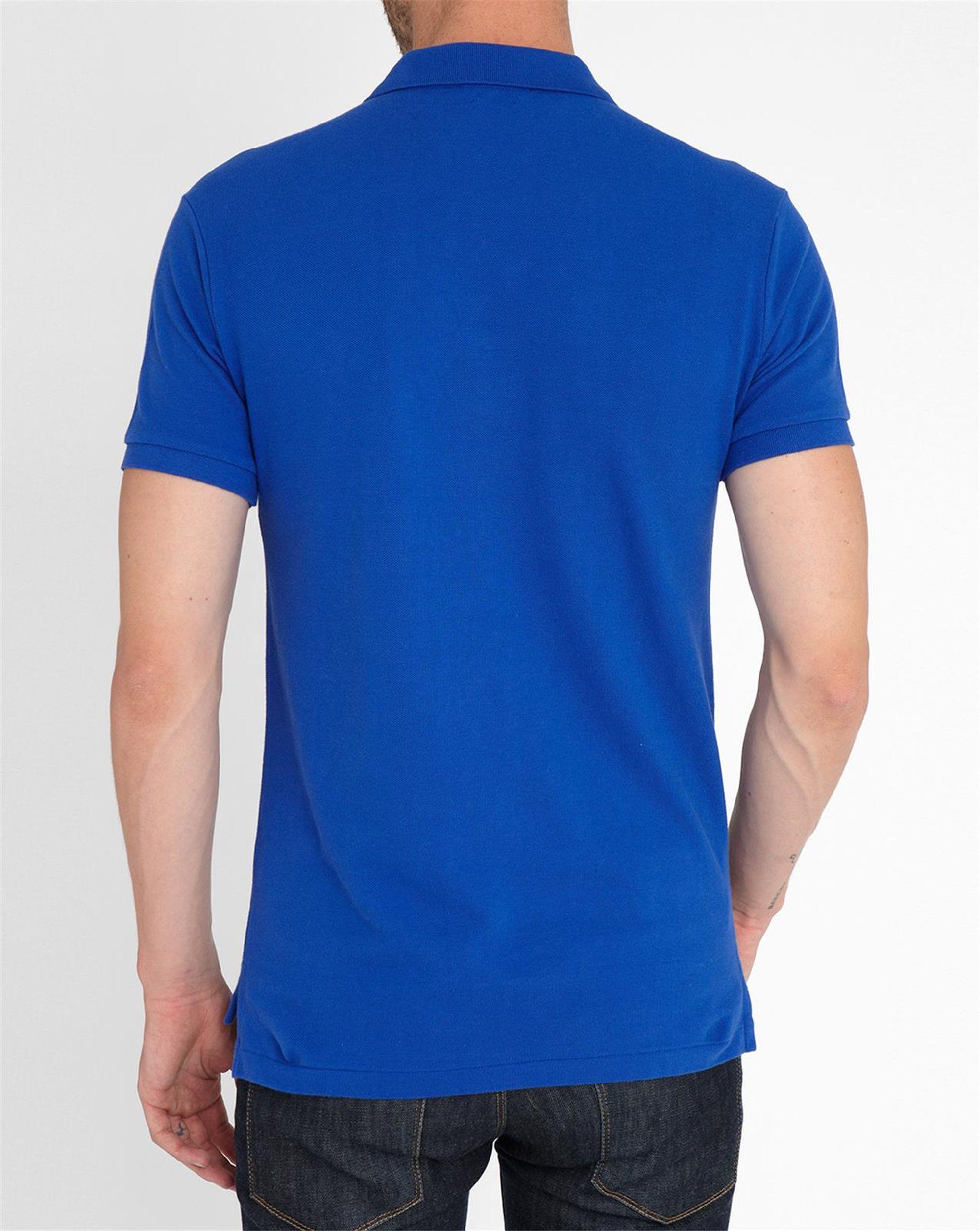 polo ralph lauren sapphire blue slim fit polo shirt in blue for men. Black Bedroom Furniture Sets. Home Design Ideas