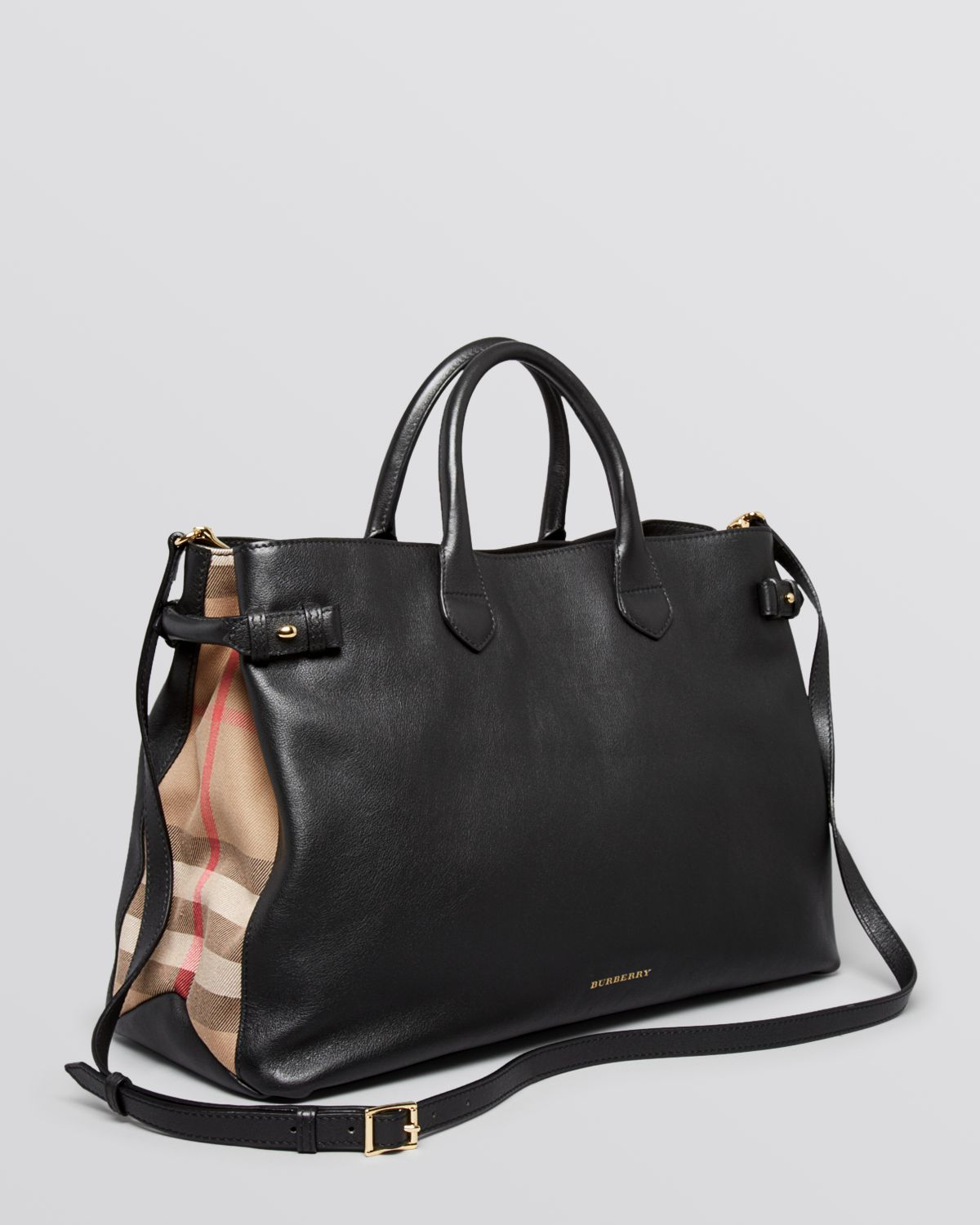 Lyst - Burberry Tote House Check Sartorial Large Banner in Black 9445860884