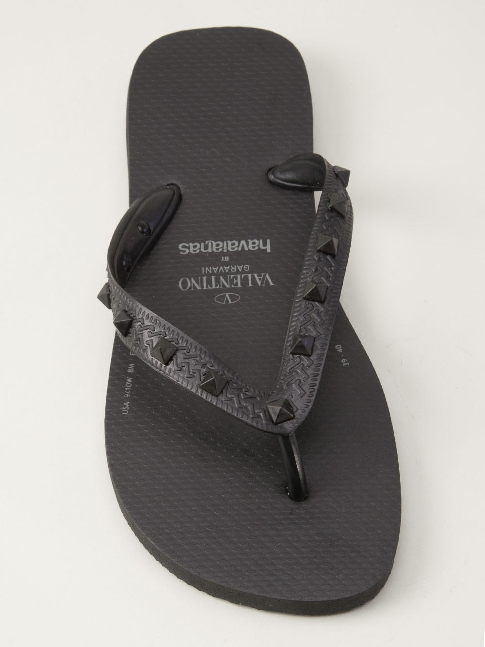 Lyst - Valentino Rockstud Flip Flop In Black For Men-1085