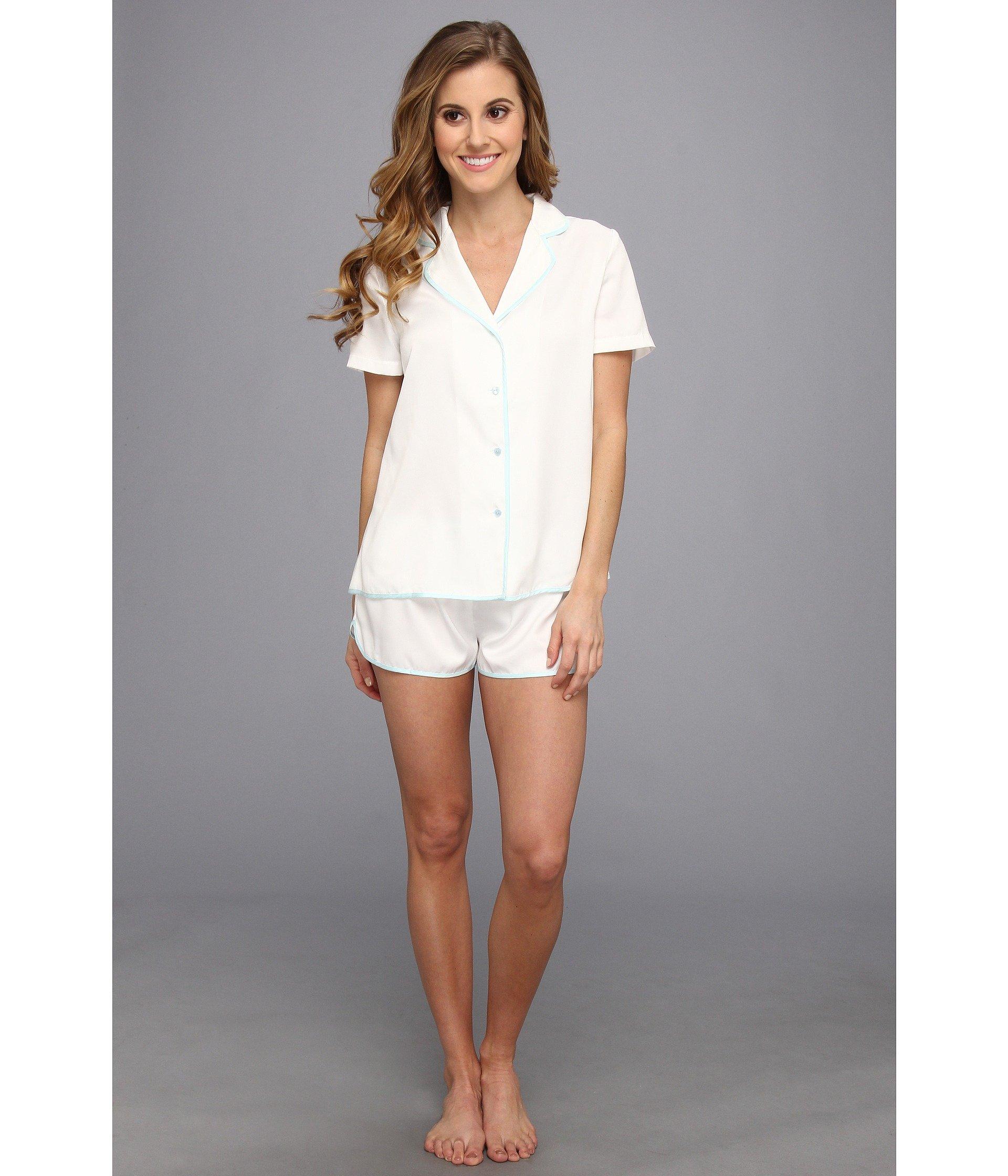 Betsey Johnson Bridal Satin Short Pajama Set 731707 In