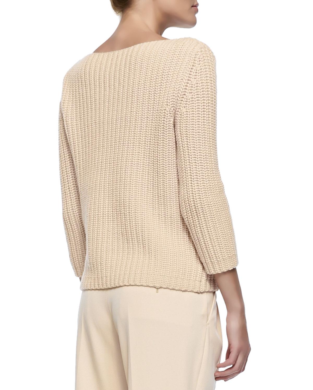 Lyst - Michael Kors Shaker-Knit Cashmere Boat-Neck Sweater -7247