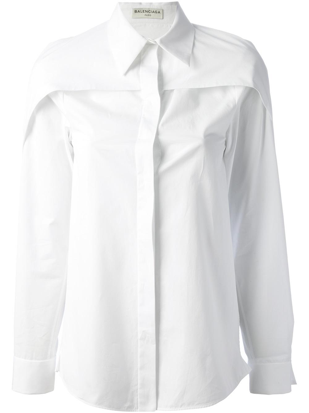 Lyst Balenciaga Layered Shirt In White