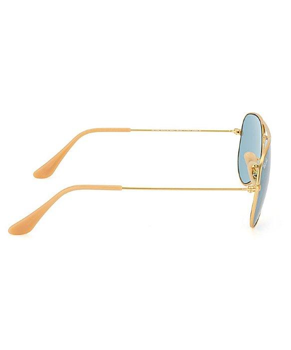 ray ban rb3044 aviator metal blue mirror sunglasses