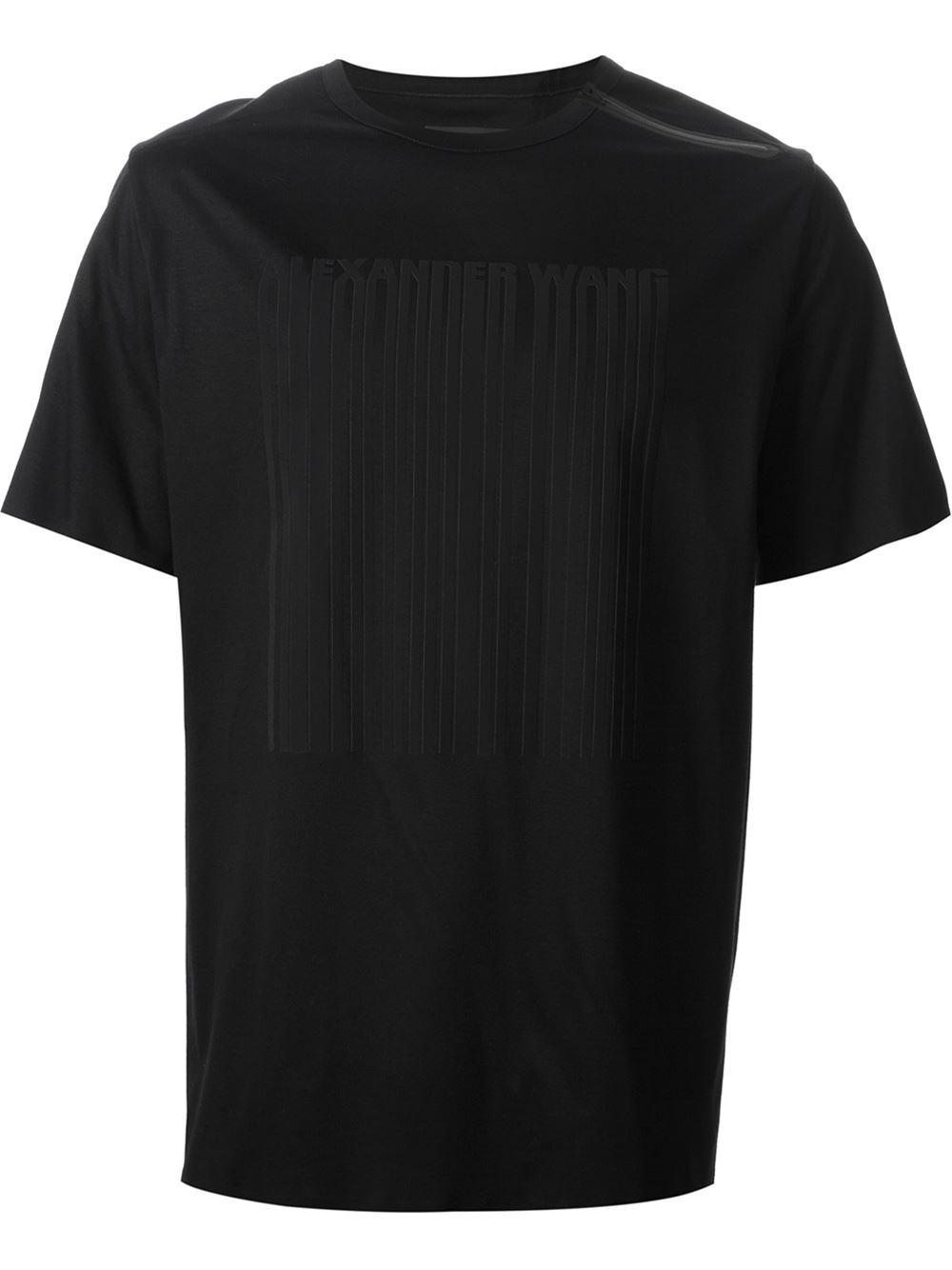 Lyst Alexander Wang Laser Cut Logo T Shirt In Black For Men