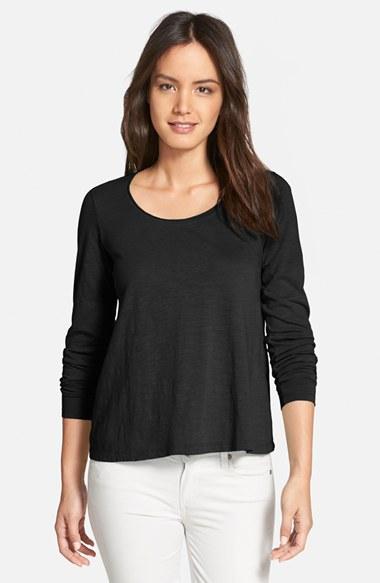Eileen fisher organic cotton jersey scoop neck t shirt in for Eileen fisher organic cotton t shirt