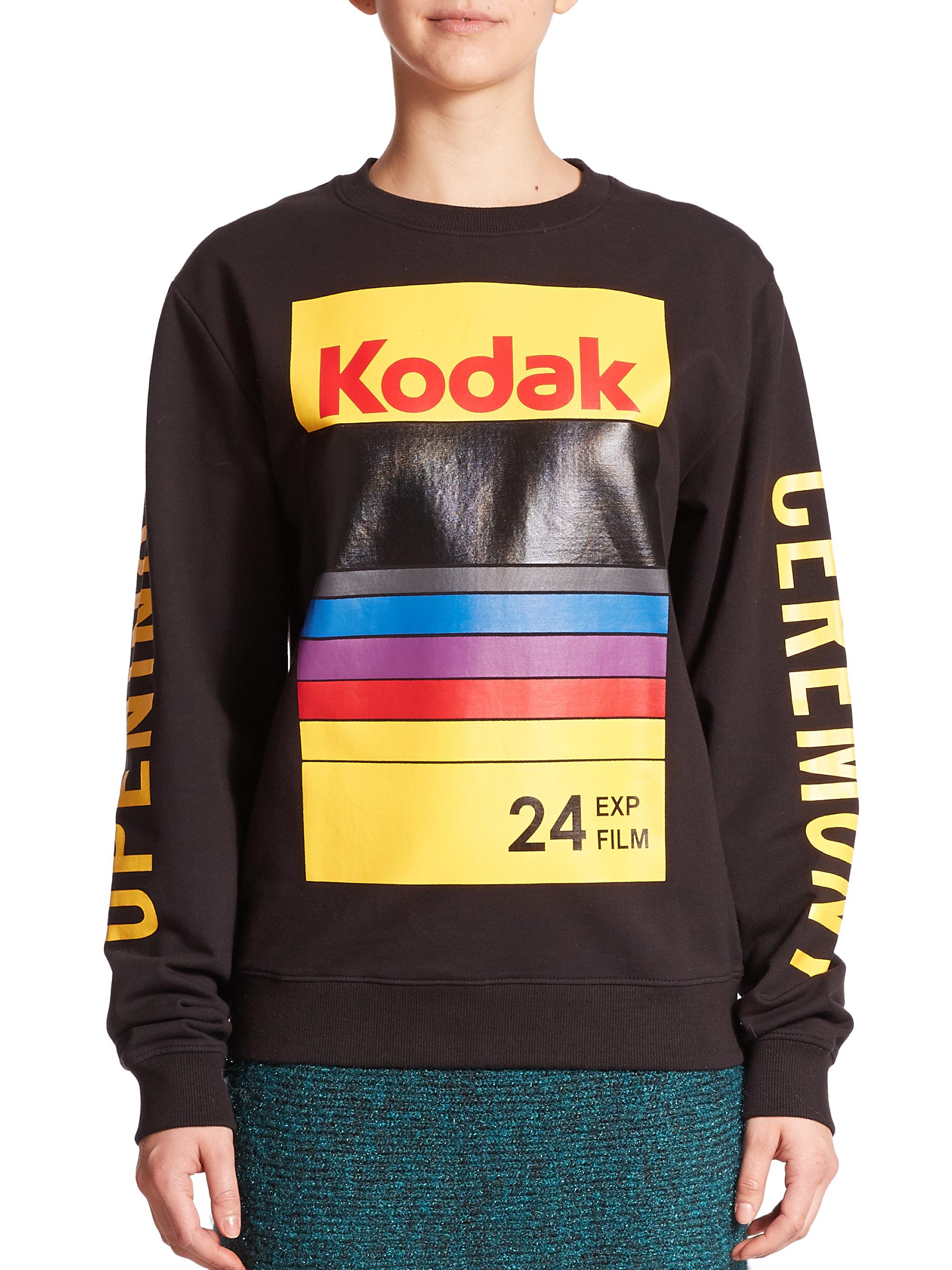 Opening Ceremony Kodak Logo Sweatshirt In Black Lyst