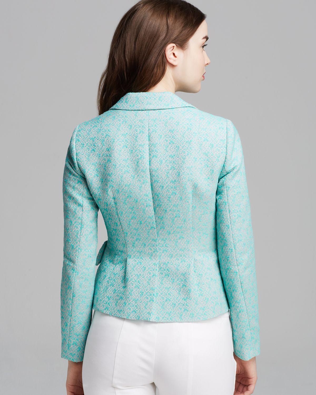nanette lepore jacket lost in love tweed in blue lyst. Black Bedroom Furniture Sets. Home Design Ideas