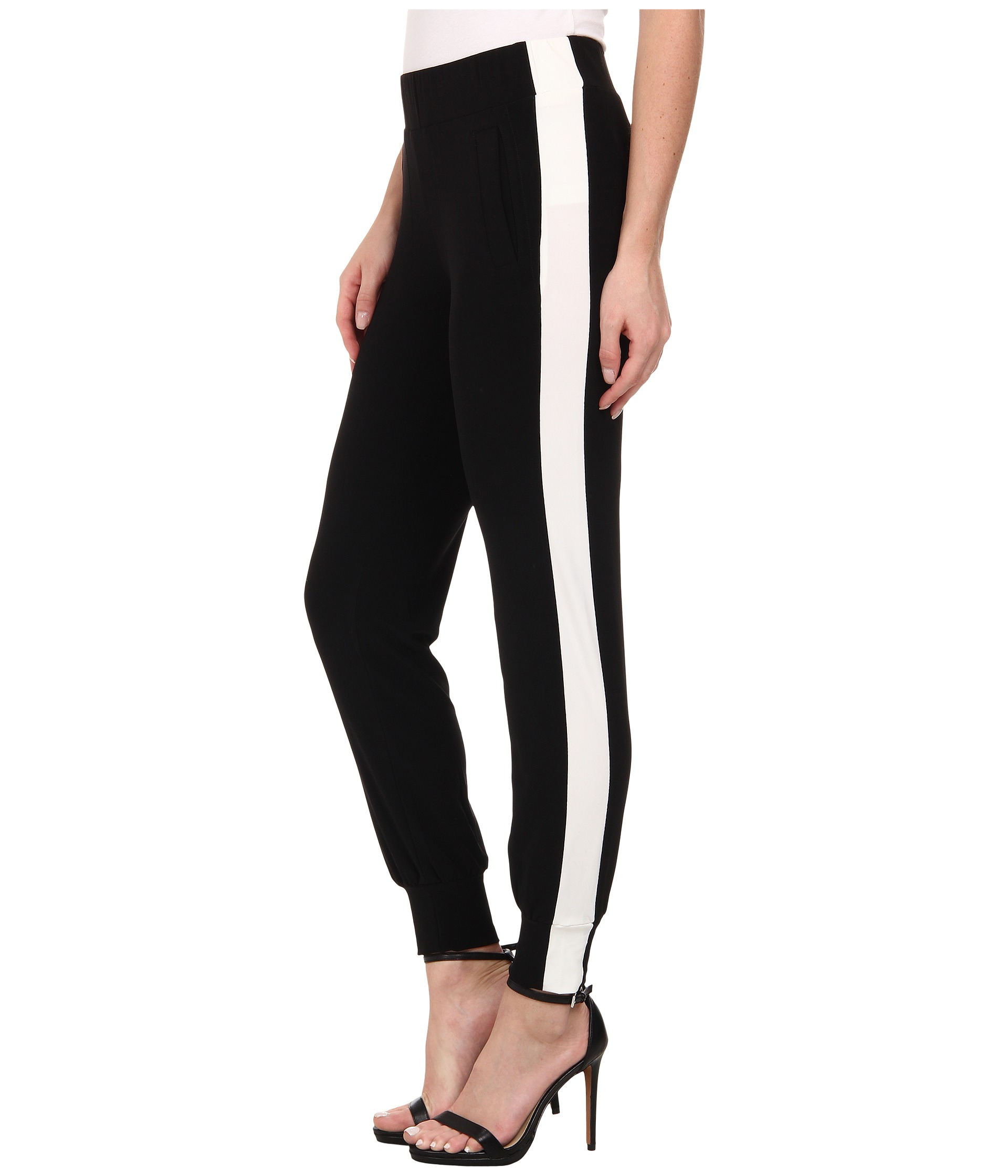 Kamalikulture Side Stripe Jog Pants In Black Lyst